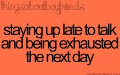 Staying up late to talk and being exhausted the next day. ♥ (Things About Boyfriends) Perfect Boyfriend, Future Boyfriend, Boyfriend Stuff, Dream Boyfriend, Boyfriend Goals, Cute Relationships, Relationship Quotes, Distance Relationships, Couple Quotes