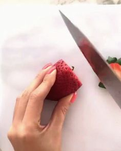 Turning a strawberry into a rose - GIF on Imgur