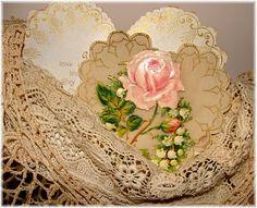 vintage card, old lace