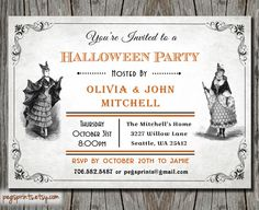 Adult Halloween Party Invite  Printable by pegsprints on Etsy, $12.00