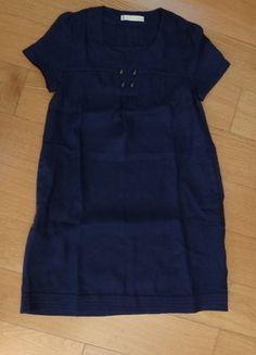 À vendre sur #vintedfrance ! http://www.vinted.fr/mode-femmes/robes-casual/25791294-robe-shyde-bleu-fonce-boutons-neuve-taille-1