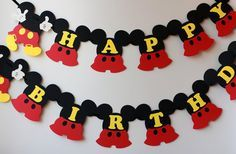 Mickey Mouse birthday banner Mickey Mouse birthday decorations Disney birthday sign Mickey Mouse party decorations Personalized Red Yellow Mickey Mouse birthday banner Mickey Mouse by RaisinsPartySupp Mickey Mouse Banner, Mickey Mouse Birthday Decorations, Mickey E Minie, Fiesta Mickey Mouse, Theme Mickey, Mickey Mouse Clubhouse Birthday, Mickey Mouse Parties, Mickey Birthday, Mickey Party