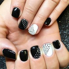 Black and white polka party.