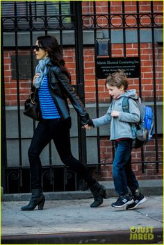 Rachel Weisz takes her son Henry to school on May 13, 2013