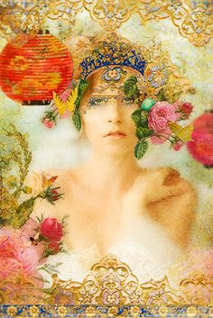 The Summer Queen by Aimee Stewart-a mixture of digital art,  photography and traditional art