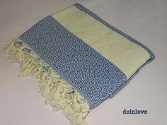 Dark blue colour diamond patterned soft cotton single bed