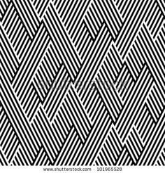 Pattern in zigzag with line black and white by Silvia Popa, via ShutterStock