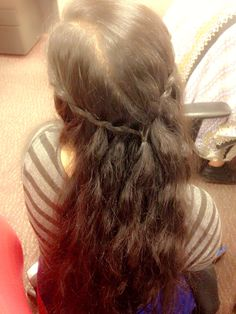 Another waterfall braid. Cute hairstyle.
