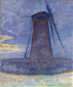 Molen bij Domburg, Piet Mondriaan, 1908