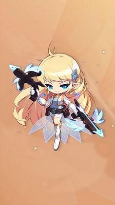 메이플스토리 :: maplestory Kawaii Chibi, Anime Chibi, Anime Weapons, Elsword, Pin Up Art, Character Drawing, Illustration Art, Illustrations, Concept Art
