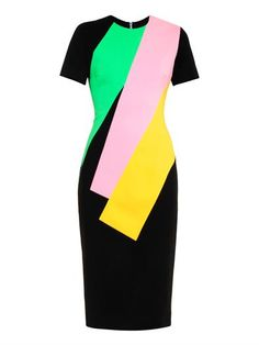 Lockwood colour-block crepe dress | Roksanda | MATCHESFASHION.COM