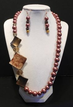 Copper Colored Pearl and MulitBeaded Necklace by SharonGJewelry, $29.99