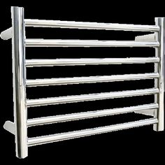 Sussex Buxted Heated Towel Rail 370mm x 520mm Stainless Steel Flat Polished
