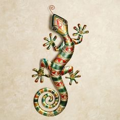 Southwest Gecko Wall Art Multi Warm