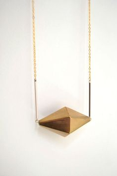 Brass Bicone necklace