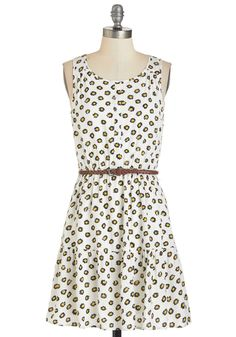 Highest Hopes Dress. The day looks promising when you don this delightful floral sundress. #white #modcloth