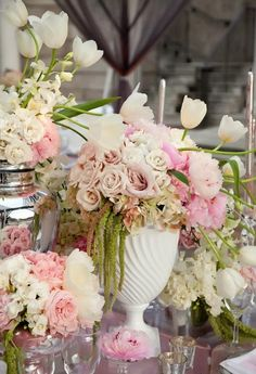 See more about centerpieces, gold vases and milk. pink #pink