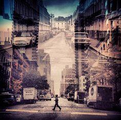 New-York – London double exposure photography