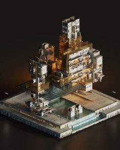 """""""The Grand Sector  Isometric Art, Drawing Templates, Circuit Design, Minecraft Projects, Weapon Concept Art, Cg Art, Environment Concept Art, Small Art, Landscape Illustration"""