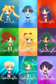 Chibi Sailor Scouts ♥