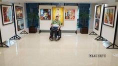 Tetraplégico, artista de Sarandi expõe arte local no exterior