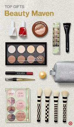 """Say """"Merry Christmas"""" the prettiest possible way—with gorgeous makeup gift sets, palettes, brushes, nail polish and more. From bold hues to natural nudes, the beauty maven on your holiday gift list will swoon over these fresh finds. Check out brands like W3LL PEOPLE, Sonia Kashuk, Pixi and NYX, or visit The Wonderlist Gift Guide for more beauty faves."""