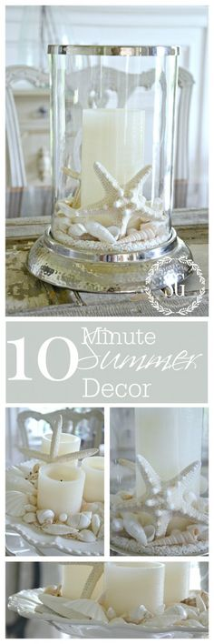 10 MINUTE SUMMER DECOR Create a summery centerpiece in less than 10 minutes!