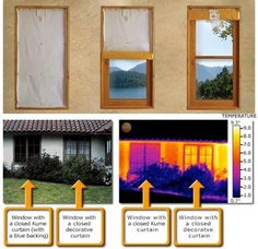 Insulating Curtains That Cut Heat Losses Through Windows by 14 Steps (with Pictures) Roll Up Curtains, Diy Curtains, Blackout Curtains, Insulated Curtains, Thermal Curtains, Energy Efficient Homes, Energy Efficiency, Homestead Survival, Windows