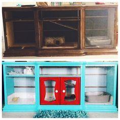 DIY rabbit hutch. Indoor rabbit hutch. Repurposed dresser. Great!!