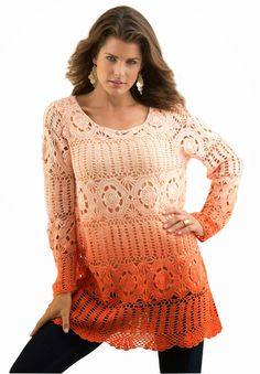 Elegant crochet sweater PATTERN big size by STYLEcrocheting