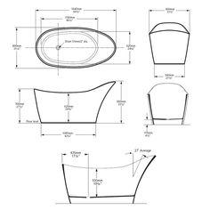 Victoria & Albert Amalfi Freestanding Bath Tech Drawing