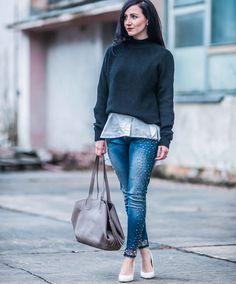"Gefällt 307 Mal, 11 Kommentare - Julie (@juliesdresscode) auf Instagram: ""Pearls and Jeans part 2 💙 that look is up on the blog ✔️"""