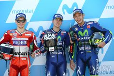 Grid qualification Aragon 2017 Vinales, Lorenzo and Rossi