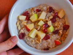 Chef Mommy: Autumn Fruit and Nut Oatmeal