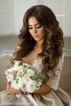 wedding Half up half down hairstyle for medium hair
