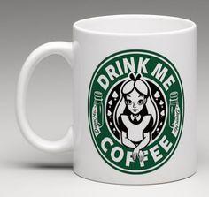 Starbucks Disney Inspired Alice In Wonderland Drink Me Coffee Mug Tea Cup Mugs For Men, Cool Mugs, I Love Coffee, Teller, Mug Cup, Tea Mugs, Alice In Wonderland, Coffee Cups, Gifts