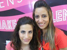 Da destra la candidata Guidace Graziana e la sua modella che esibisce il trucco ultimato