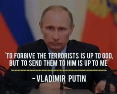 You know.... I don't necessarily disagree with Putin (for once)