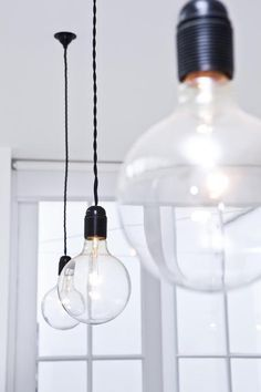 hanging bulbs (over the kitchen bar)