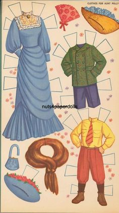 Hayley Mills paper doll clothes from Pollyanna / eBay