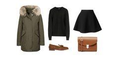 skirt + sweater + parka