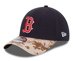 detailed look 6dbe0 b2639 Boston Red Sox New Era 39Thirty 2015 Memorial Day Camo Fitted S M Cap Hat