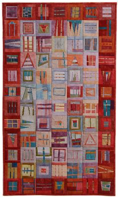 "Erin Wilson""s quilts   ""Bordered Chaos"" 18"" x 30"""