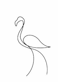 Image by Esther Vila. Discover all images by Esther Vila. Find more awesome images on PicsArt. Single Line Drawing, Continuous Line Drawing, Illustration Ligne, Logo Animal, Illustration Inspiration, Motif Art Deco, Minimalist Drawing, Flamingo Art, Abstract Line Art