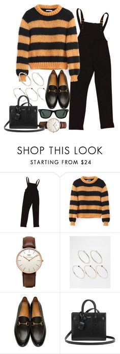 """Sin título #2249"" by alx97 ❤ liked on Polyvore featuring ASOS, Daniel Wellington, Pieces, Gucci, Yves Saint Laurent and Ray-Ban"