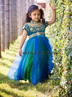 Baby in Dual Color Frock - Indian Dresses