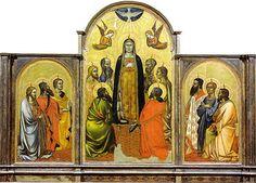 Orcagna e Jacopo di Cione - Pentecoste - tempera e oro su tavola - 1362-1365 circa - Galleria dell'Accademia a Firenze.