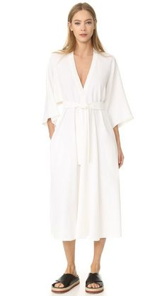 TOME V Neck Shirtdress. #tome #cloth #dress #top #shirt #sweater #skirt #beachwear #activewear
