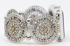 Apple Watch Band Women's, Beaded, Designer, Apple Watch Band 38 mm, Apple Watch Band 42 mm, Apple Watch Jewelry by GirlTechFinds on Etsy https://www.etsy.com/listing/479188966/apple-watch-band-womens-beaded-designer