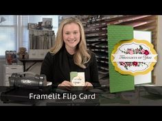 Circle Framelit Closure Card - Using Stampin Up Products - YouTube